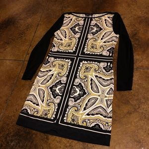 Banana Republic Long Sleeve Paisley Dress